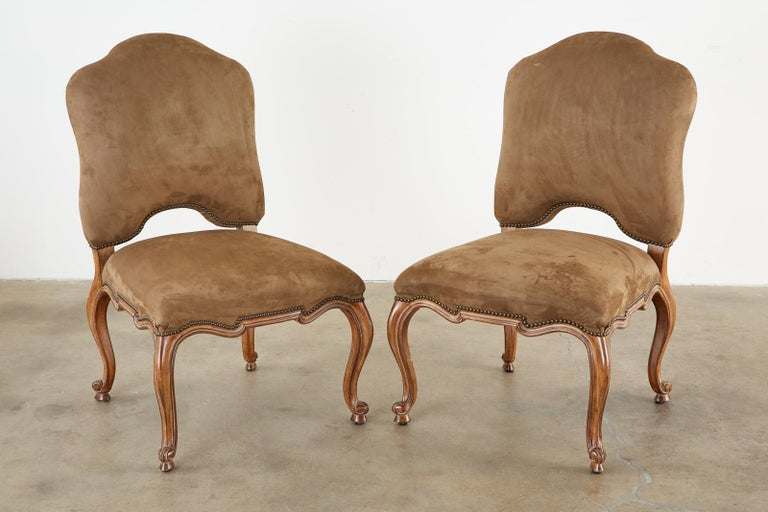 Set of Twelve Baroque Style Dining Chairs by Kreiss Collection In Good Condition For Sale In Oakland, CA