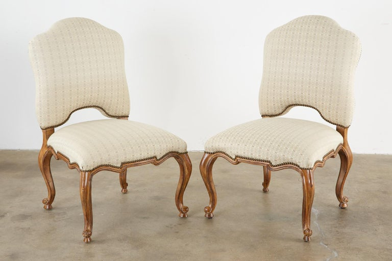Contemporary Set of Twelve Baroque Style Dining Chairs by Kreiss Collection For Sale