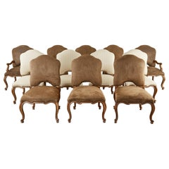 Set of Twelve Baroque Style Dining Chairs by Kreiss Collection