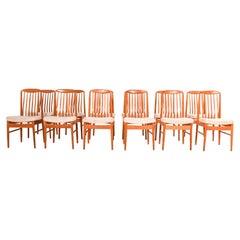 Set of Twelve Benny Linden Teak Dining Chairs, 1970s