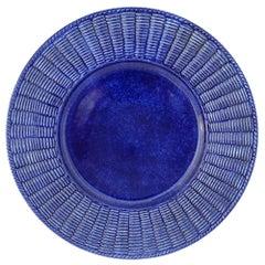 Set of Twelve Cobalto Wicker Ceramic Plates