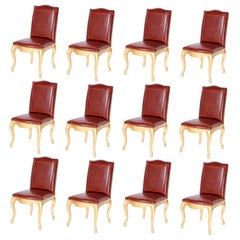 Set of Twelve Dining Chairs with Faux Alligator Upholstery by Ralph Lauren