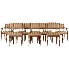 Set of Twelve English Regency Style Mahogany Dining Chairs