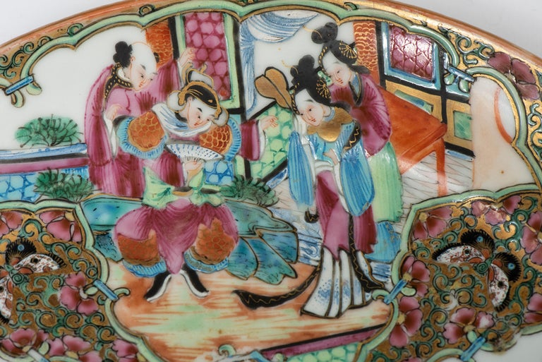Set of Twelve Famille Vert Porcelain Plates, China circa 1900 For Sale 5