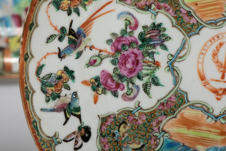 Early 20th Century Set of Twelve Famille Vert Porcelain Plates, China circa 1900 For Sale