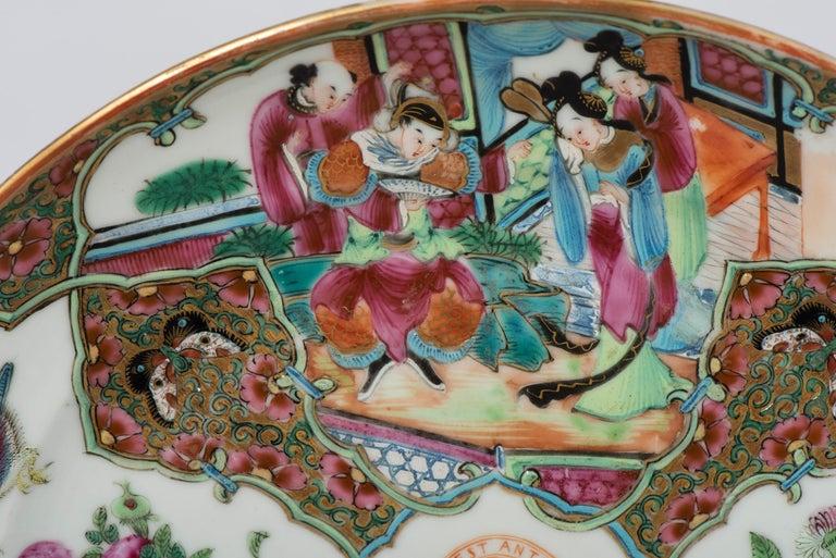 Set of Twelve Famille Vert Porcelain Plates, China circa 1900 For Sale 2