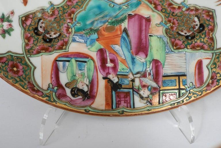 Set of Twelve Famille Vert Porcelain Plates, China circa 1900 For Sale 3