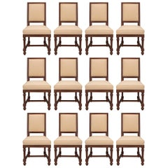 Set of Twelve French 19th Century Mahogany Dining Chairs