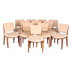 Set of Twelve French Art Deco Dining Chairs by 'Jules Leleu'