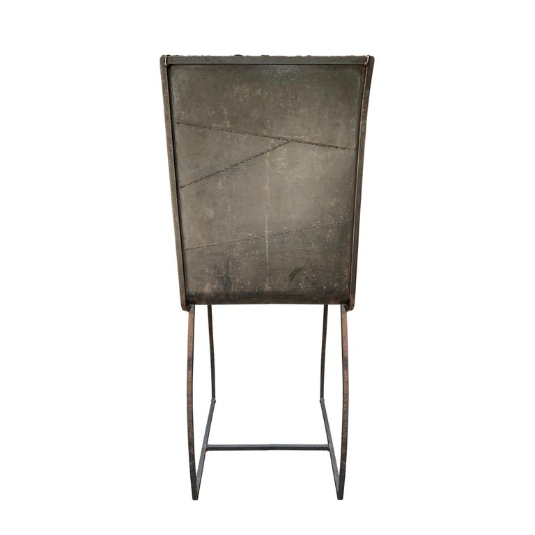 Steel Set of Twelve French Brutalist Dining Chairs For Sale