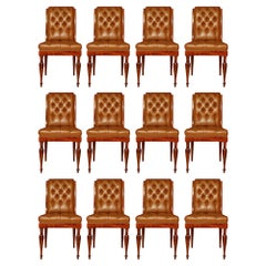 Set of Twelve French Late 19th Century Restoration Style Side Chairs