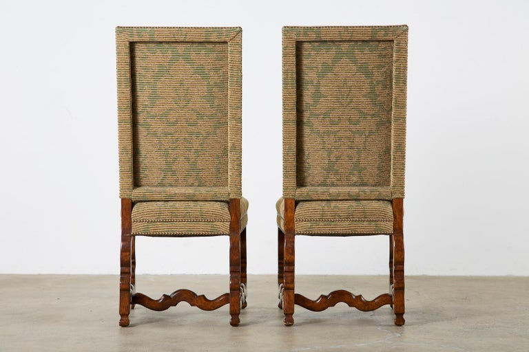 Set of Twelve French Louis XIV Os de Mouton Style Dining Chairs For Sale 13