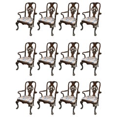 Set of Twelve George II Style Dining Chairs