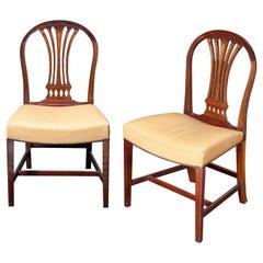 Set of Twelve Georgian Style Dining Room Chairs, 19th Century, England