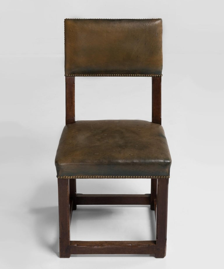 Late 19th Century Set of Twelve Gothic Oak Dining Chairs, England, circa 1880 For Sale