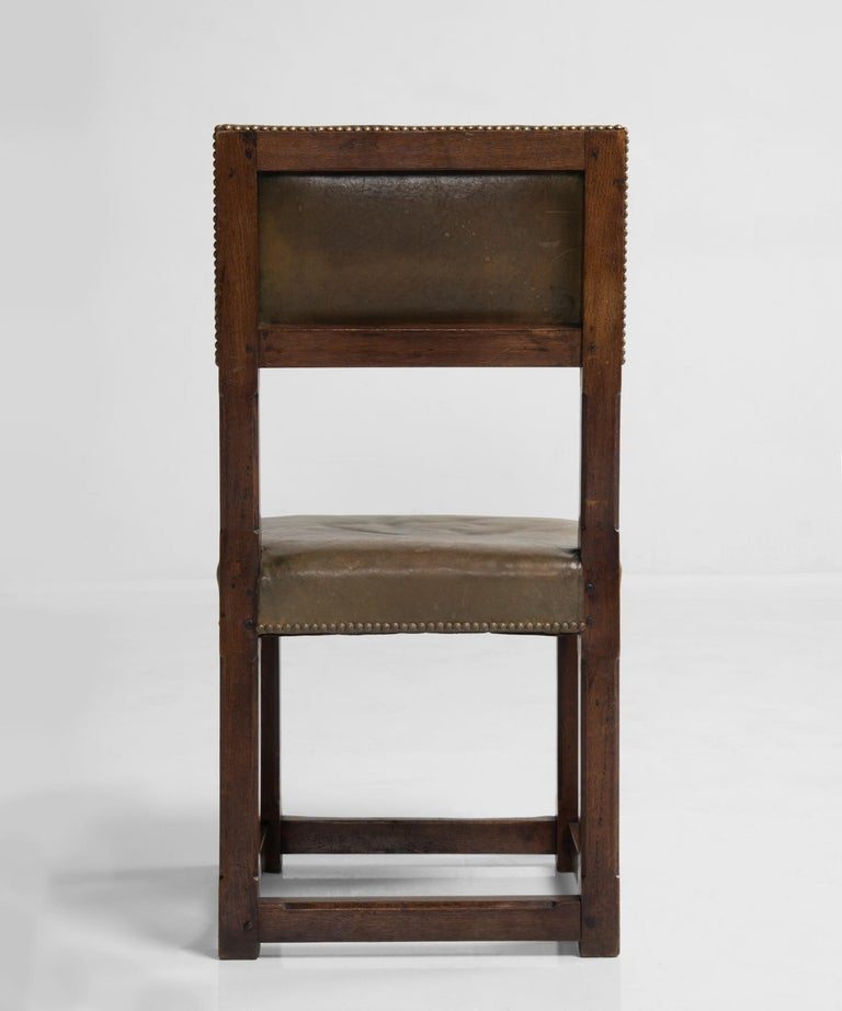 Set of Twelve Gothic Oak Dining Chairs, England, circa 1880 For Sale 1