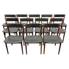 Set of Twelve Henry Rosengren Hansen Rosewood Dining Chairs
