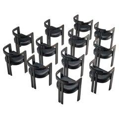 Set of Twelve Italian Armchairs with Bentwood Frames