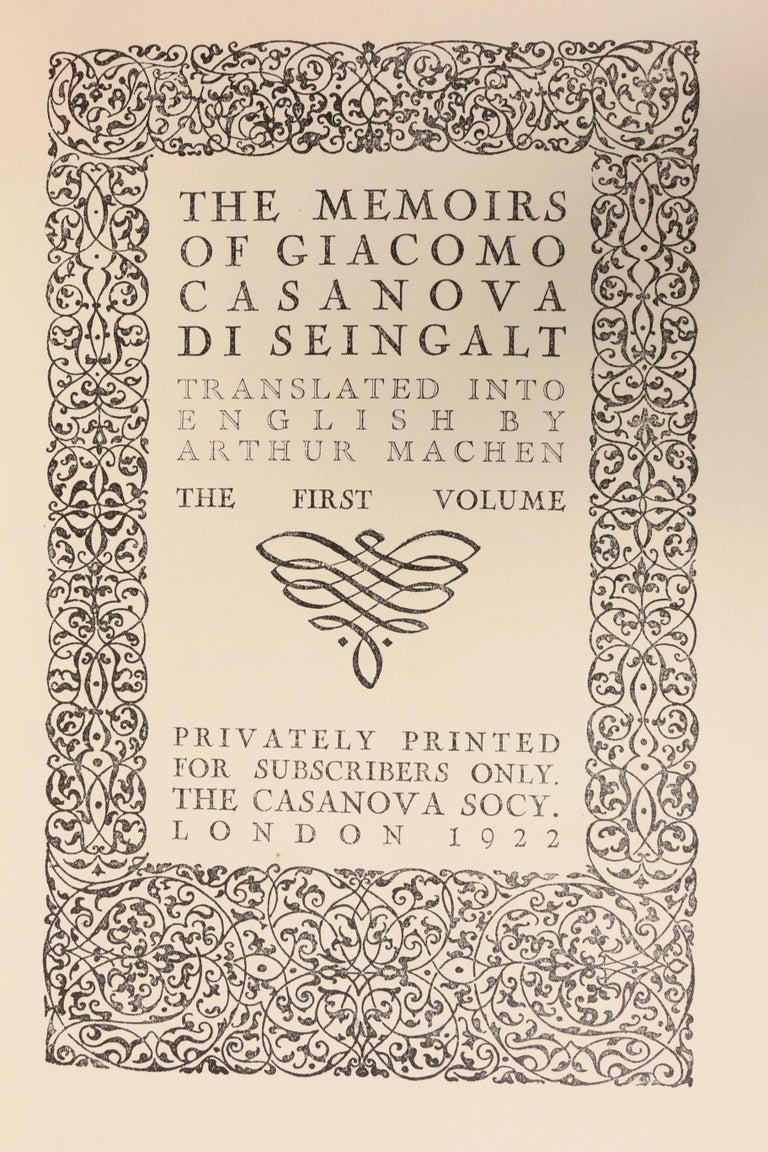 Set of 12 Leather Bound Volumes, Memoirs Casanova For Sale 1