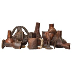 Set of Twelve Leather Tableware Drink Props from the Pirate Series Black Sails