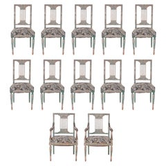 Set of Twelve Louis XVI Style Dining Chairs