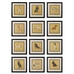 Set of Twelve Lucy Dawson Dogs