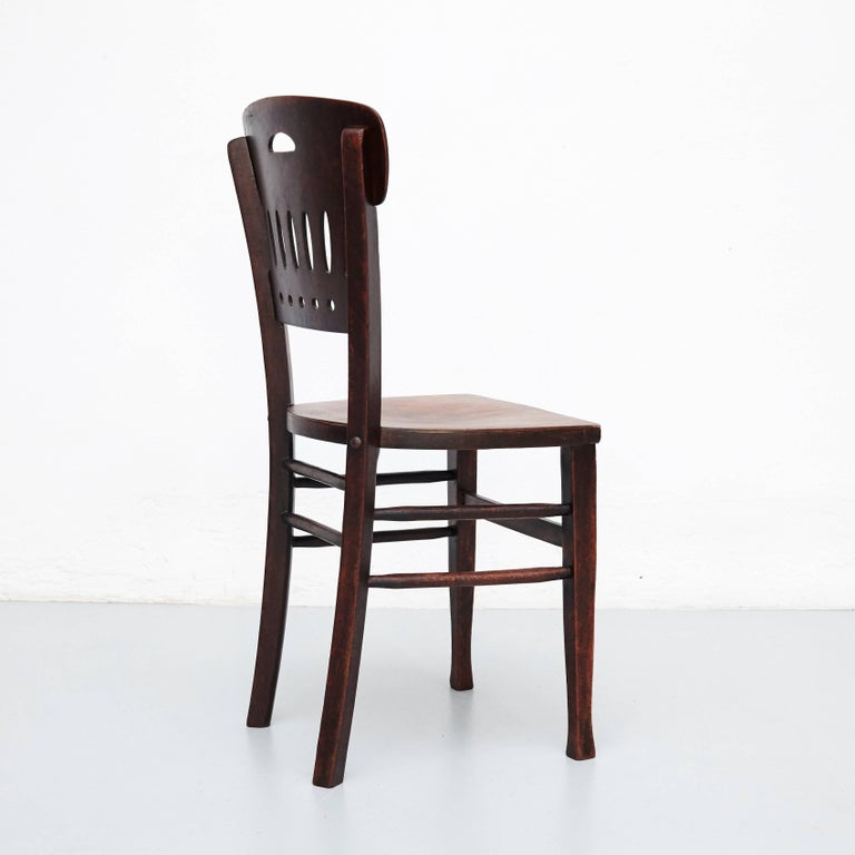 Set of Twelve Luterma Bistro Wood Chairs In Good Condition For Sale In Barcelona, Barcelona