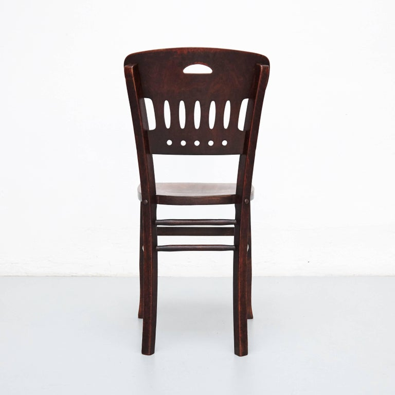 1890s Set of Twelve Luterma Bistro Wood Chairs For Sale