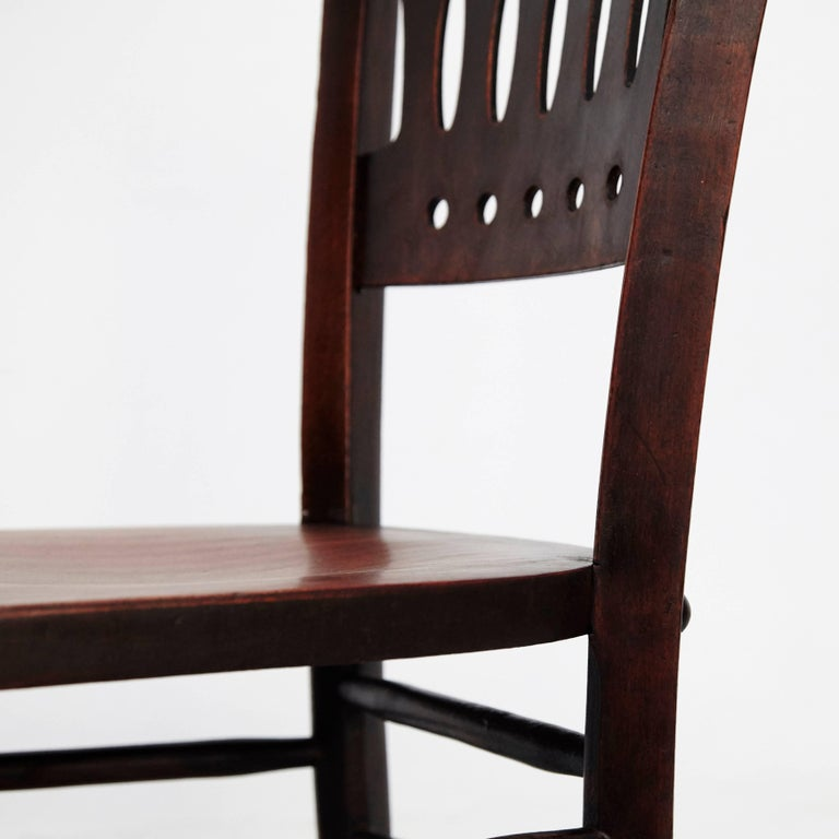 Set of Twelve Luterma Bistro Wood Chairs For Sale 2