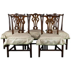Set of Twelve Mahogany Chippendale Dining Chairs