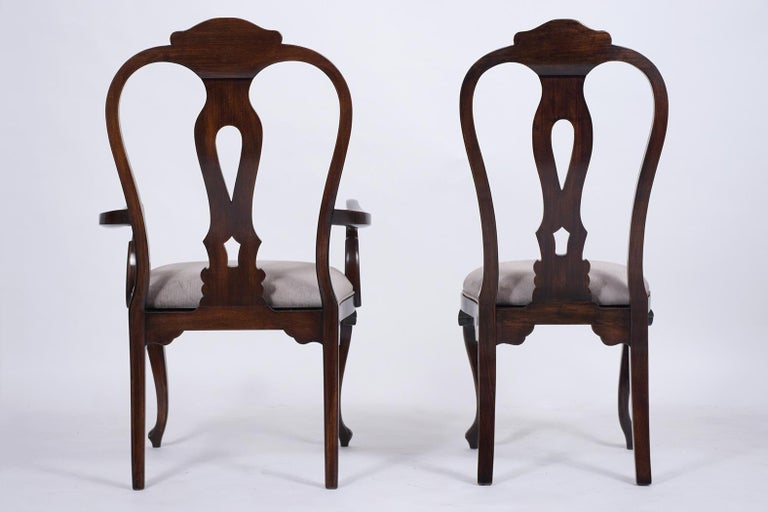 Vintage Set of Twelve Mahogany Dining Chairs For Sale 2