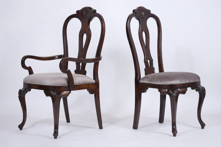 Mid-20th Century Vintage Set of Twelve Mahogany Dining Chairs For Sale