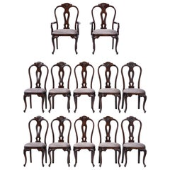 Vintage Set of Twelve Mahogany Dining Chairs