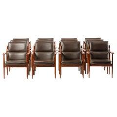 Set of Eleven Mid-Century Danish Rosewood Chairs, circa 1950