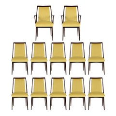 Set of Twelve Mid-Century Modern Dining Chairs