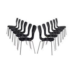Set of Twelve 'Nikke' Dining Chairs by Tapio Wirkkala, Finland, 1950s