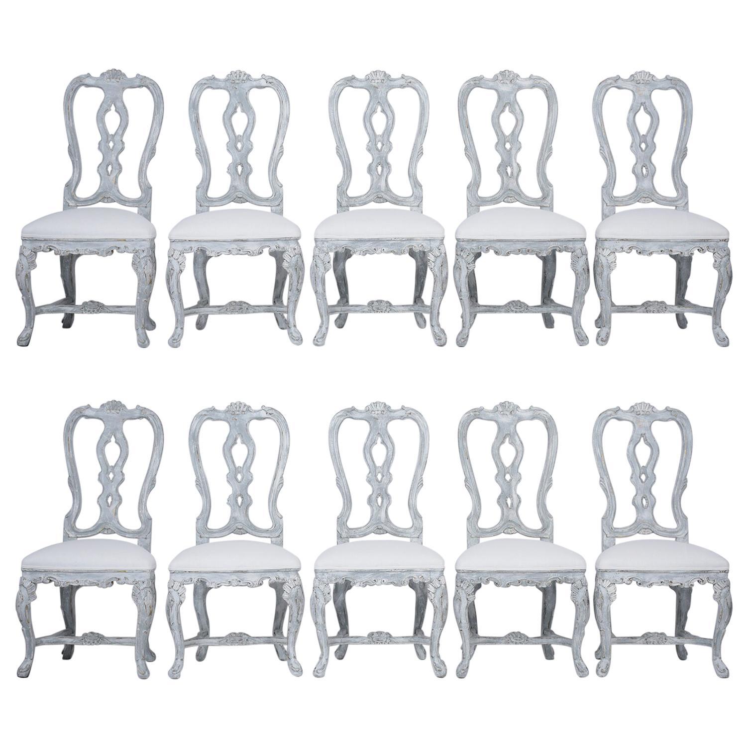 Set of Twelve Italian Dining Chairs