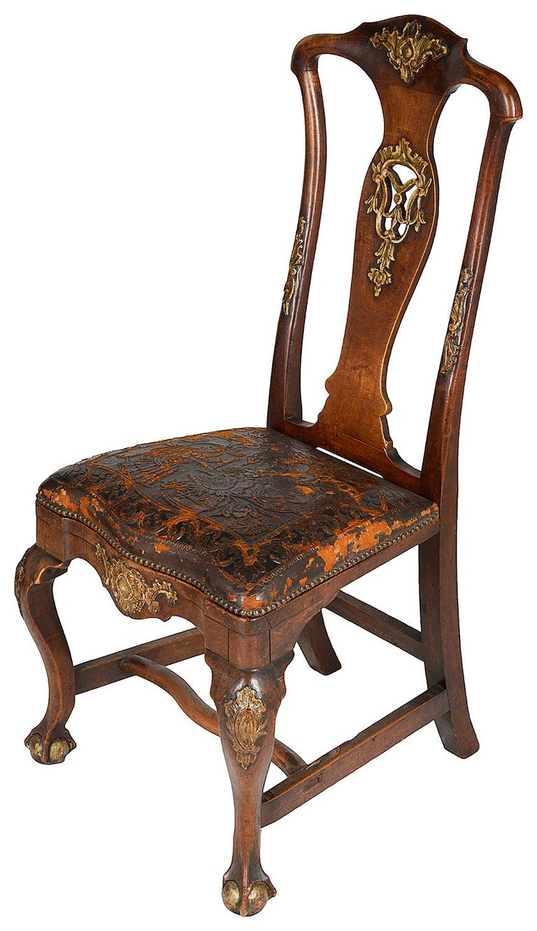 Set of Twelve Portuguese 18th Century Dining Chairs In Good Condition For Sale In Brighton, Sussex
