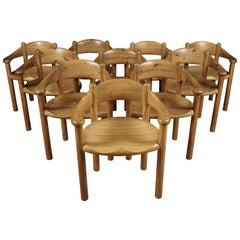 Set of Twelve Rainer Daumiller Dining Chairs, Denmark, 1970s