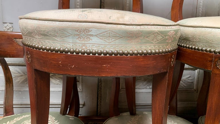 Set of Twelve Regence style Dining Chairs For Sale 11