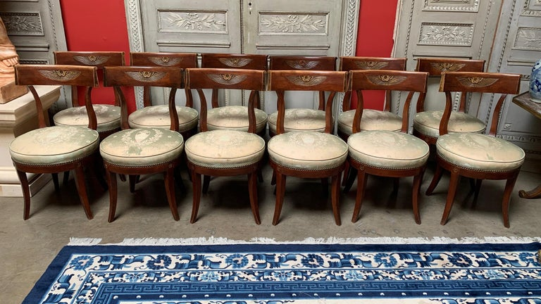 Hollywood Regency Set of Twelve Regence style Dining Chairs For Sale