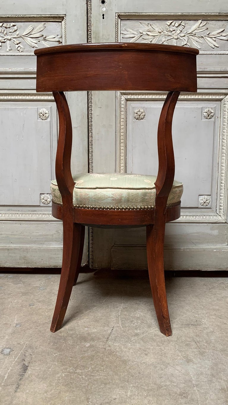 Set of Twelve Regence style Dining Chairs In Fair Condition For Sale In Dallas, TX