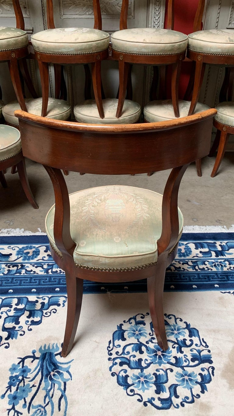 Set of Twelve Regence style Dining Chairs For Sale 1