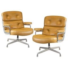 "Set of Twelve Swivel ""Time Life Chairs"" Designed by Charles & Ray Eames"