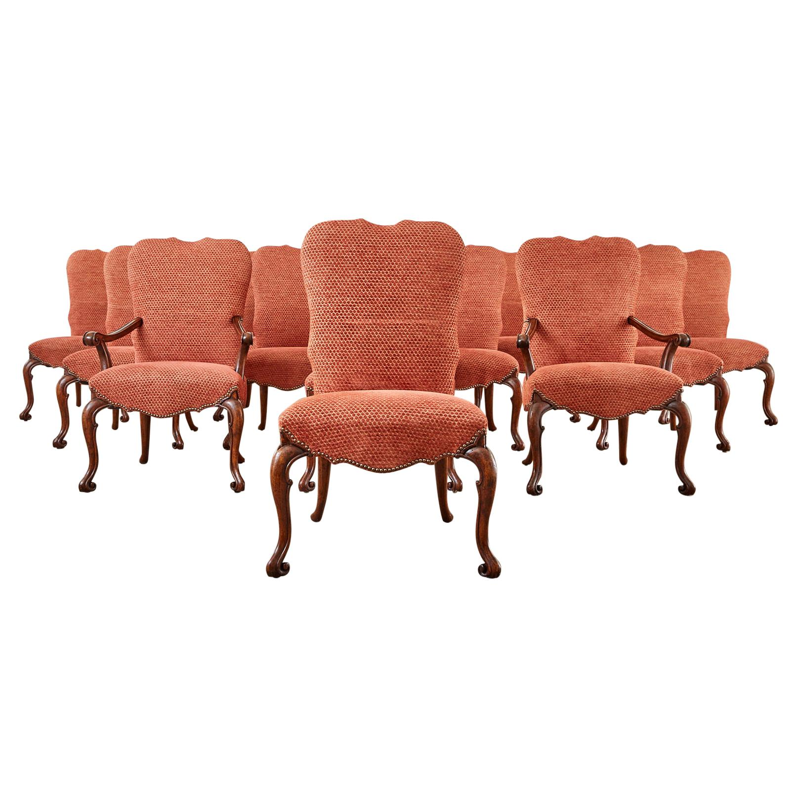 Set of Twelve Therien Studio Baroque Style Dining Chairs