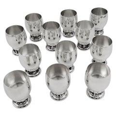 Set of Twelve Vintage Georg Jensen Grapes Goblets