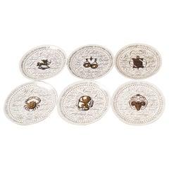 Set of Twelve Zodiac Plates by Piero Fornasetti for Perugia, Italy, 1960s-1970s