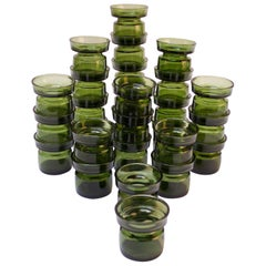 Set of Twenty-Eight Jens Quistgaard for Dansk Green Glass Votive Holders