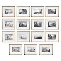 Set of Twenty Five Engraved Views of Dublin Ireland by James Malton