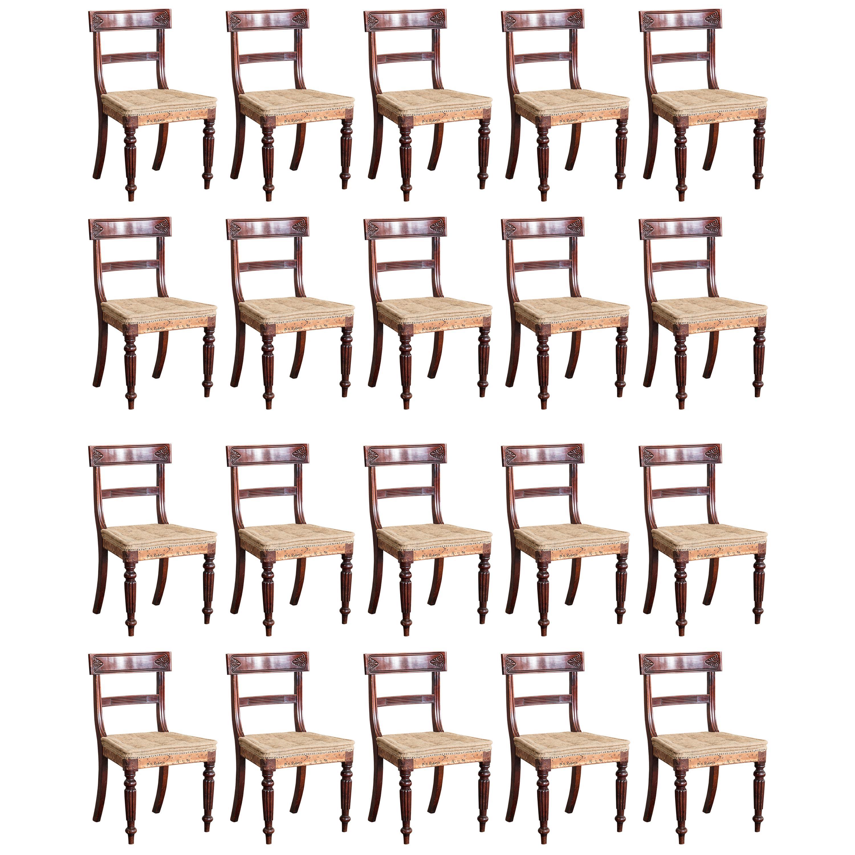 Set of Twenty Regency Dining Chairs